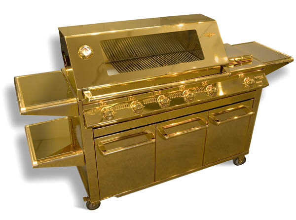 Meet the ultimate in BBQ bling, the Aussie-made gold-plated barbeque