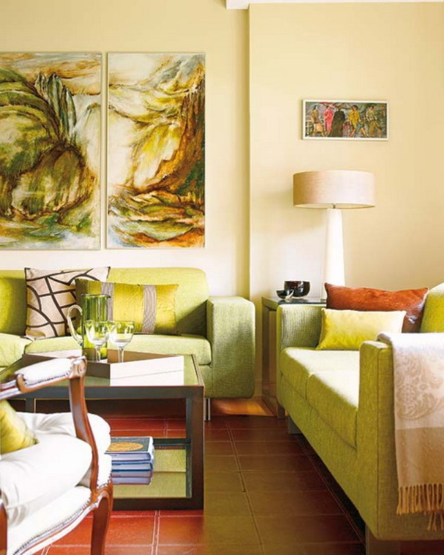 Friday design - Green living room ideas decorating ...
