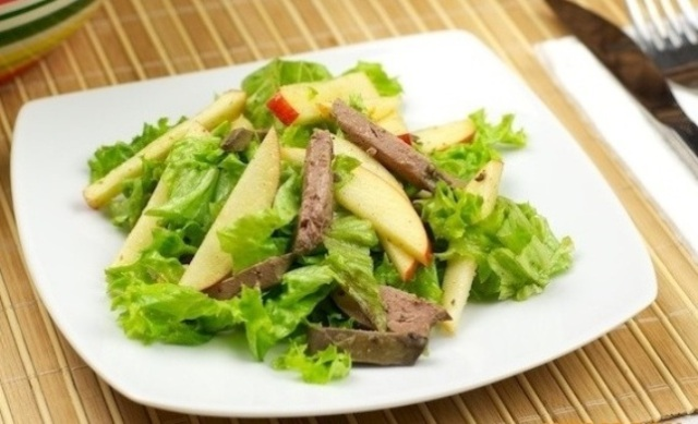 salad-with-liver-and-apple