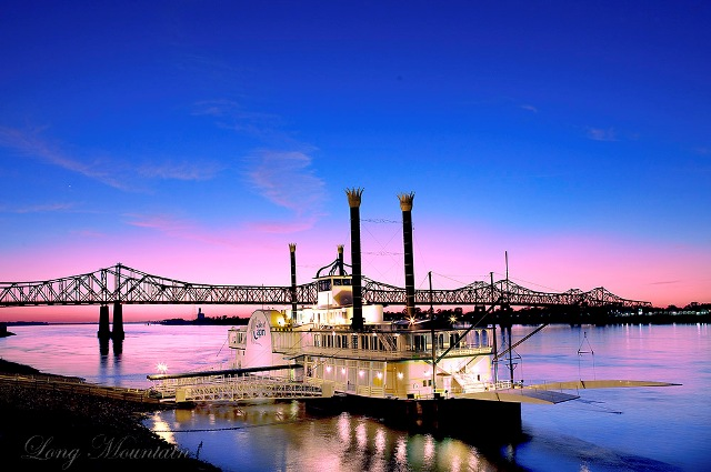 Natchez, Mississippi Casino Boat on the Mississippi River