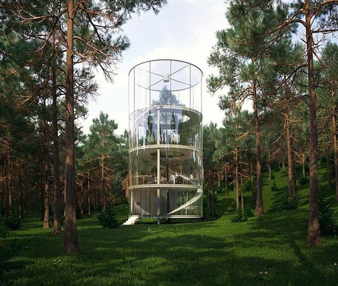 ხე სახლში და სახლი ტყეში – ყაზახი არქიტექტორის პროექტი