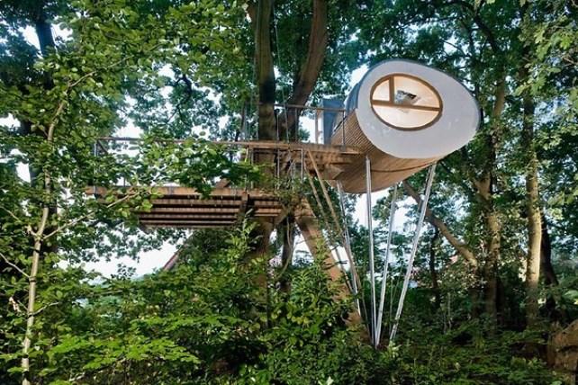 ორიგინალური სახლი ხეზე გერმანელი არქიტექტორებისგან