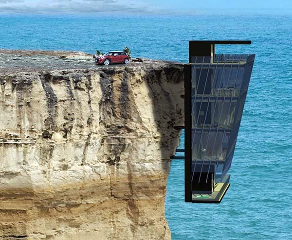 ავსტრალიელი არქიტექტორების შედევრი: კლდეზე დაკიდებული მოდულური სახლი