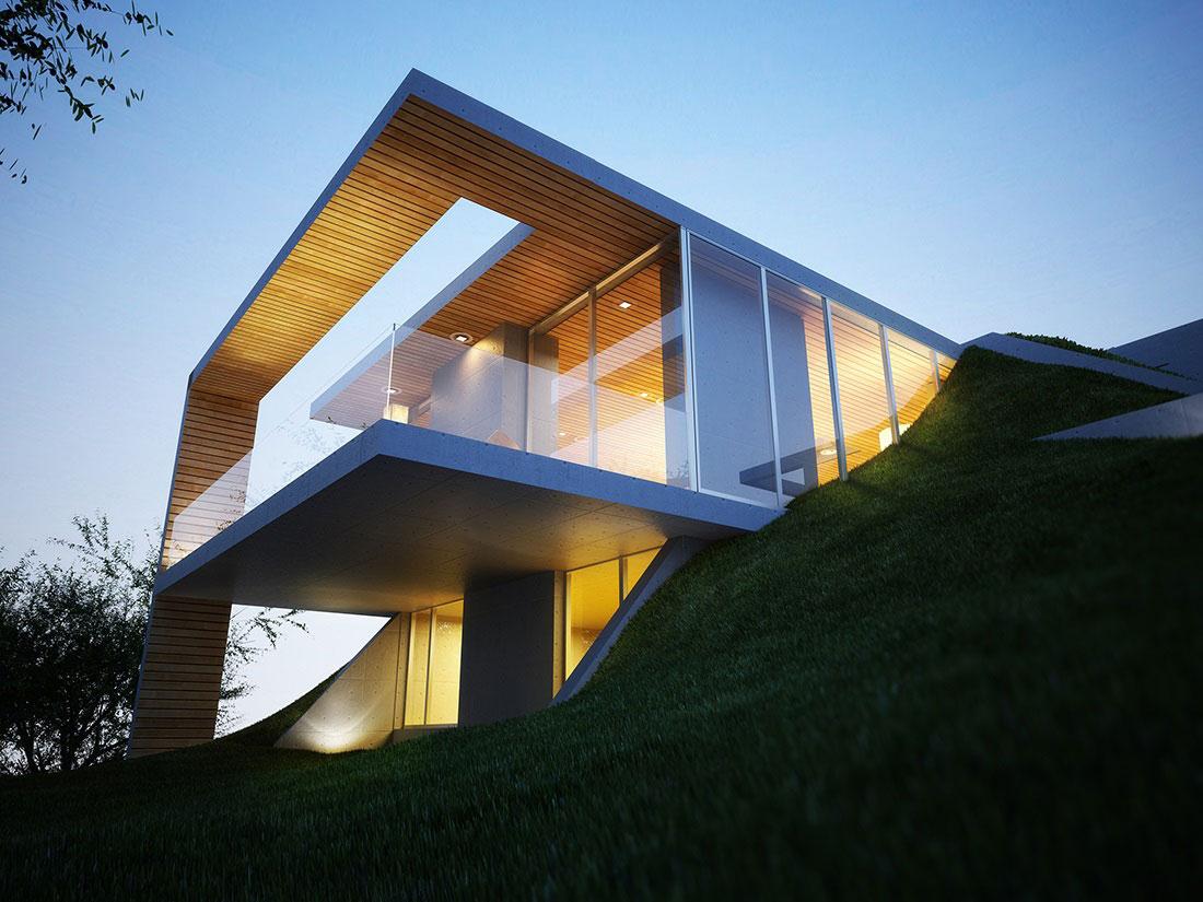 ტირანა: თანამედროვე სახლი მიწაში