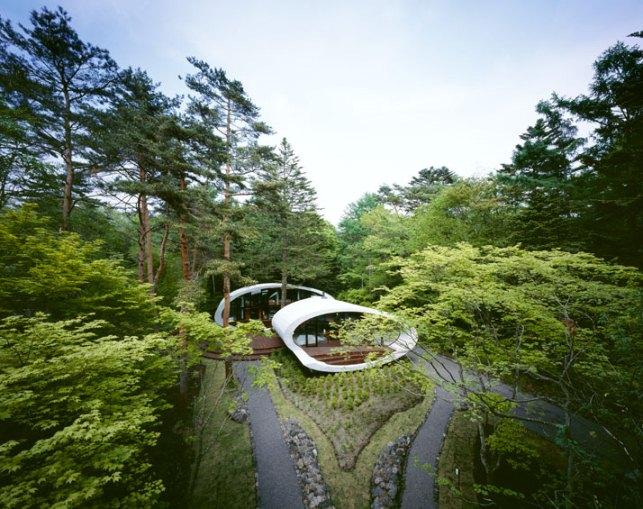 """სახლი """"ნიჟარა"""" იაპონიის ტყეში"""